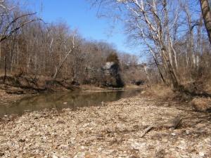 The Cedar Creek crossing a bit east of Devil's backbone.