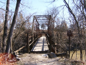 Rutherford Bridge, crossing Cedar Creek