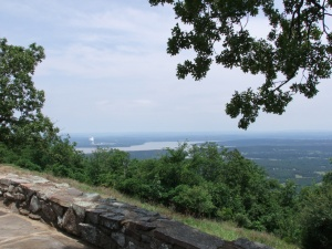 "Looking over Lake Dardanelle and ""Arkansas One"" - the nuclear power plant."